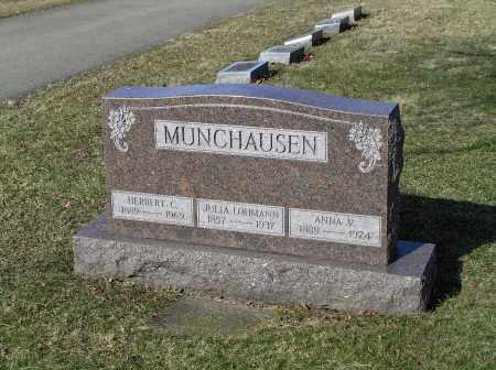 MUNCHAUSEN, ANNA V - Richland County, Ohio | ANNA V MUNCHAUSEN - Ohio Gravestone Photos
