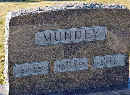 MUNDEY, FLORENCE - Richland County, Ohio   FLORENCE MUNDEY - Ohio Gravestone Photos