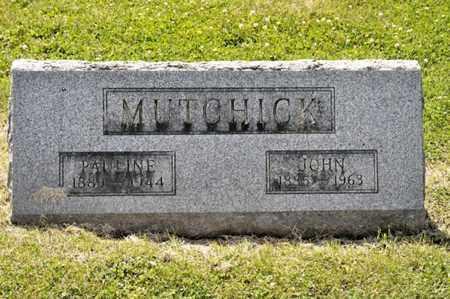 MUTCHICK, PAULINE - Richland County, Ohio | PAULINE MUTCHICK - Ohio Gravestone Photos