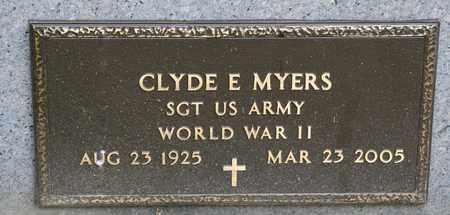 MYERS, CLYDE E - Richland County, Ohio   CLYDE E MYERS - Ohio Gravestone Photos