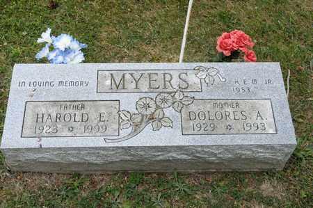 MYERS, HAROLD E - Richland County, Ohio | HAROLD E MYERS - Ohio Gravestone Photos