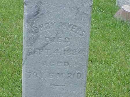 MYERS, HENRY - Richland County, Ohio   HENRY MYERS - Ohio Gravestone Photos