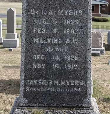 MYERS, MALVINA A W - Richland County, Ohio | MALVINA A W MYERS - Ohio Gravestone Photos