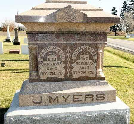 MYERS, MARY - Richland County, Ohio | MARY MYERS - Ohio Gravestone Photos