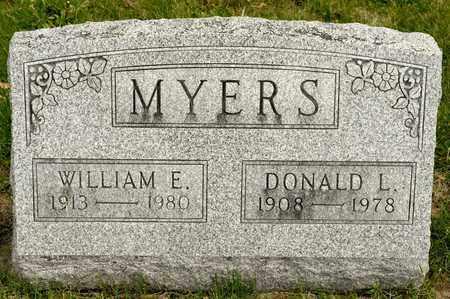 MYERS, WILLIAM E - Richland County, Ohio | WILLIAM E MYERS - Ohio Gravestone Photos