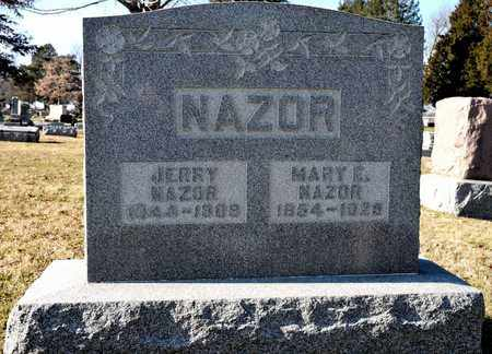 NAZOR, MARY E - Richland County, Ohio | MARY E NAZOR - Ohio Gravestone Photos