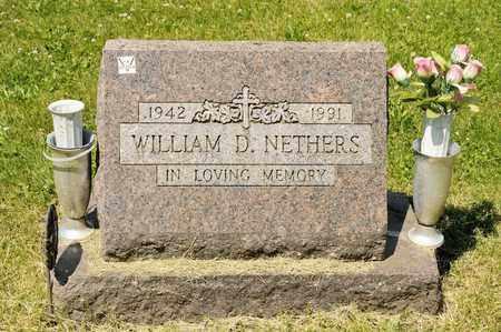 NETHERS, WILLIAM D - Richland County, Ohio | WILLIAM D NETHERS - Ohio Gravestone Photos