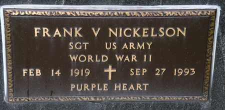 NICKELSON, FRANK V - Richland County, Ohio | FRANK V NICKELSON - Ohio Gravestone Photos
