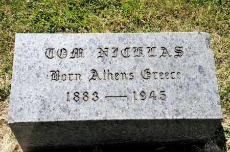 NICKLAS, TOM - Richland County, Ohio | TOM NICKLAS - Ohio Gravestone Photos