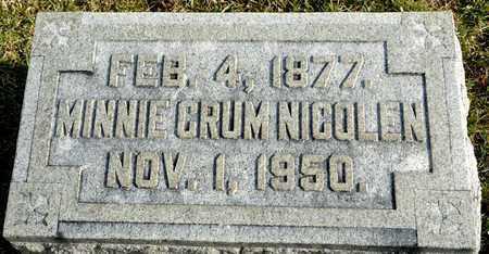 NICOLEN, MINNIE - Richland County, Ohio   MINNIE NICOLEN - Ohio Gravestone Photos