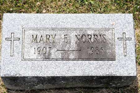 NORRIS, MARY E - Richland County, Ohio   MARY E NORRIS - Ohio Gravestone Photos