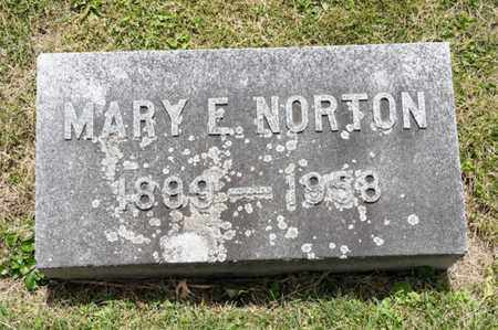 NORTON, MARY E - Richland County, Ohio | MARY E NORTON - Ohio Gravestone Photos