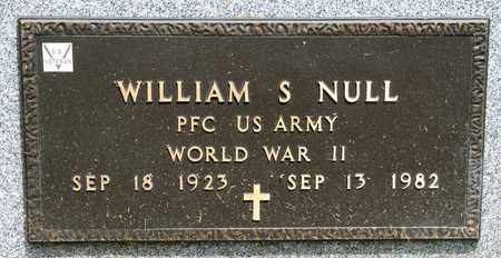 NULL, WILLIAM S - Richland County, Ohio   WILLIAM S NULL - Ohio Gravestone Photos