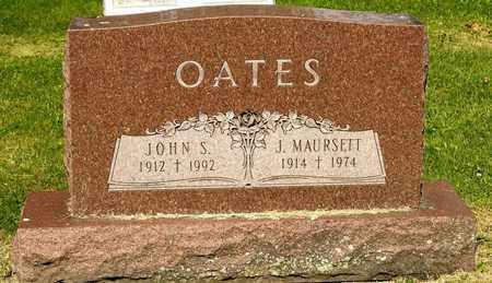 OATES, J MAURSETT - Richland County, Ohio   J MAURSETT OATES - Ohio Gravestone Photos