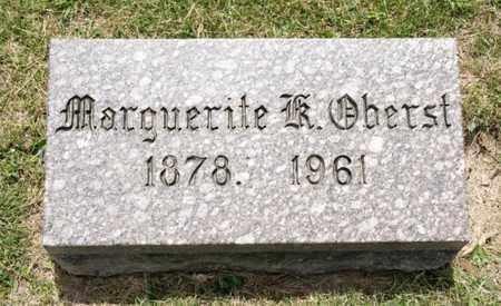 OBERTST, MARGUERITE K - Richland County, Ohio | MARGUERITE K OBERTST - Ohio Gravestone Photos