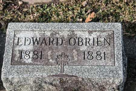 O'BRIEN, EDWARD - Richland County, Ohio | EDWARD O'BRIEN - Ohio Gravestone Photos