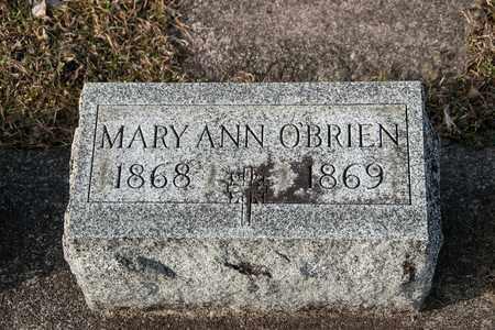 O'BRIEN, MARY ANN - Richland County, Ohio   MARY ANN O'BRIEN - Ohio Gravestone Photos