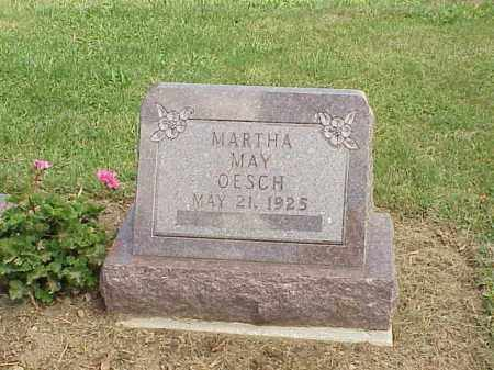 OESCH, MARTHA MAY - Richland County, Ohio | MARTHA MAY OESCH - Ohio Gravestone Photos