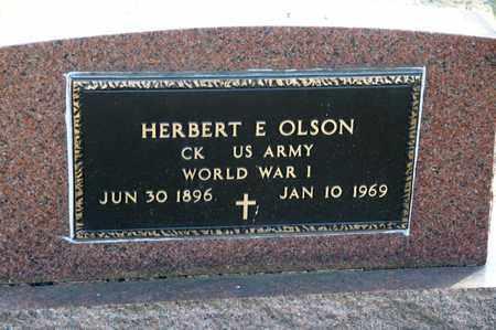 OLSON, HERBERT E - Richland County, Ohio   HERBERT E OLSON - Ohio Gravestone Photos