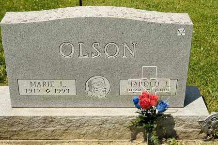 OLSON, MARIE L - Richland County, Ohio | MARIE L OLSON - Ohio Gravestone Photos