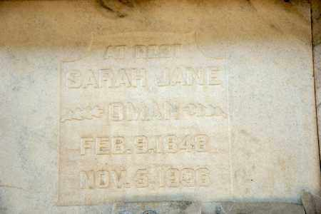 OMAN, SARAH JANE - Richland County, Ohio | SARAH JANE OMAN - Ohio Gravestone Photos