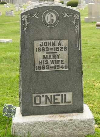 O'NEIL, JOHN A - Richland County, Ohio   JOHN A O'NEIL - Ohio Gravestone Photos