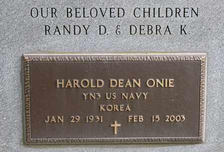 ONIE, HAROLD DEAN - Richland County, Ohio   HAROLD DEAN ONIE - Ohio Gravestone Photos