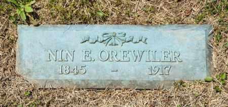 OREWILER, NIN E - Richland County, Ohio | NIN E OREWILER - Ohio Gravestone Photos