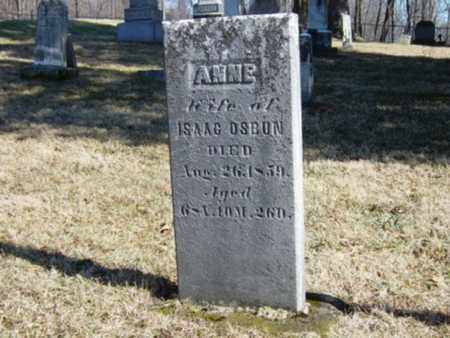 OSBUN, ANNE - Richland County, Ohio | ANNE OSBUN - Ohio Gravestone Photos
