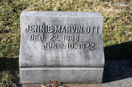 MARVIN OTT, JENNIE - Richland County, Ohio | JENNIE MARVIN OTT - Ohio Gravestone Photos