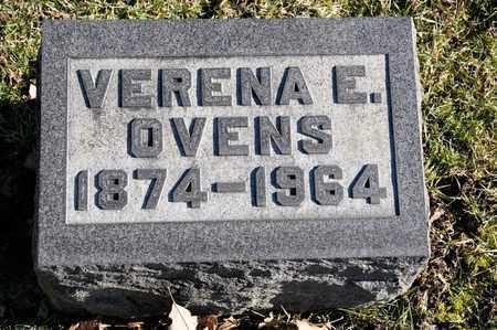 OVENS, VERENA E - Richland County, Ohio   VERENA E OVENS - Ohio Gravestone Photos