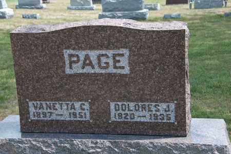 PAGE, DOLORES J - Richland County, Ohio | DOLORES J PAGE - Ohio Gravestone Photos
