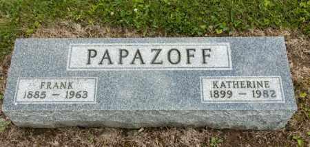 PAPAZOFF, KATHERINE - Richland County, Ohio   KATHERINE PAPAZOFF - Ohio Gravestone Photos