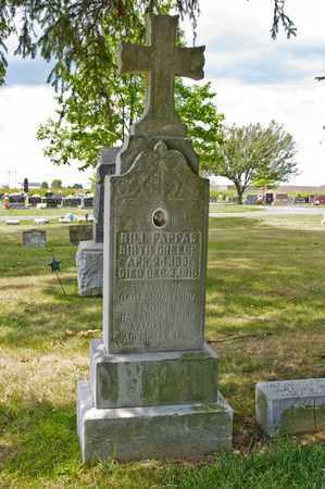 PAPPAS, BILL - Richland County, Ohio   BILL PAPPAS - Ohio Gravestone Photos
