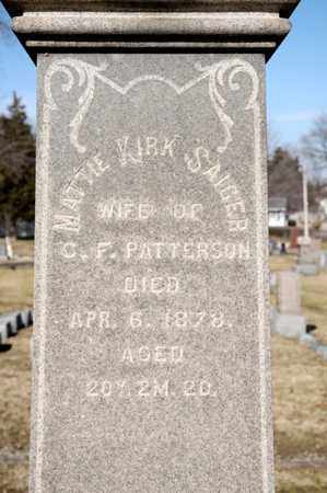 PATTERSON, MATTIE KIRK - Richland County, Ohio | MATTIE KIRK PATTERSON - Ohio Gravestone Photos