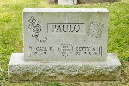 PAULO, BETTY A - Richland County, Ohio   BETTY A PAULO - Ohio Gravestone Photos