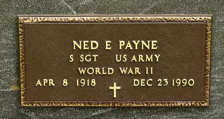 PAYNE, NED E - Richland County, Ohio | NED E PAYNE - Ohio Gravestone Photos