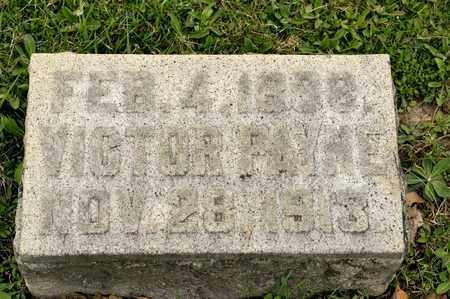 PAYNE, VICTOR - Richland County, Ohio   VICTOR PAYNE - Ohio Gravestone Photos
