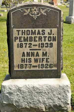 PEMBERTON, ANNA M - Richland County, Ohio | ANNA M PEMBERTON - Ohio Gravestone Photos
