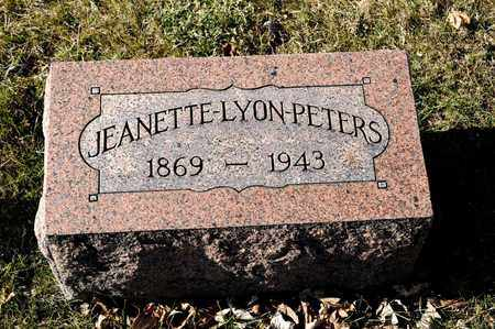 LYON PETERS, JEANETTE - Richland County, Ohio | JEANETTE LYON PETERS - Ohio Gravestone Photos