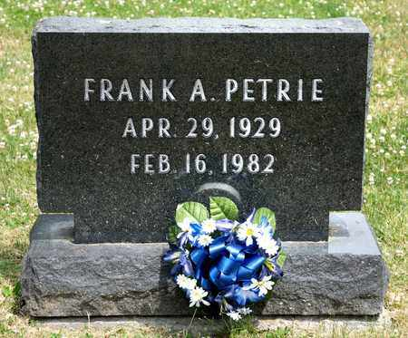 PETRIE, FRANK A - Richland County, Ohio | FRANK A PETRIE - Ohio Gravestone Photos