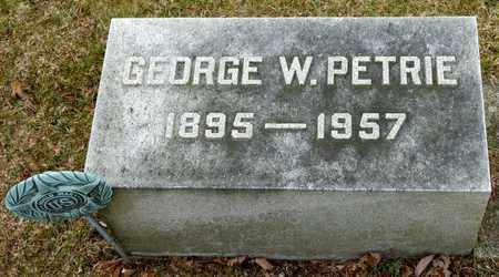 PETRIE, GEORGE W - Richland County, Ohio | GEORGE W PETRIE - Ohio Gravestone Photos