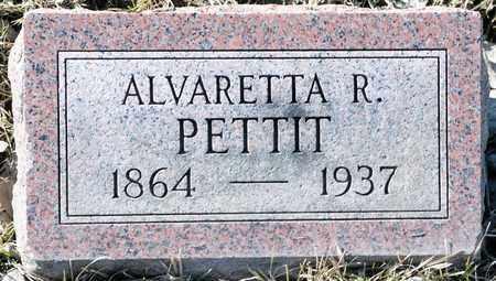PETTIT, ALVARETTA R - Richland County, Ohio | ALVARETTA R PETTIT - Ohio Gravestone Photos