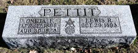 PETTIT, LEWIS R - Richland County, Ohio | LEWIS R PETTIT - Ohio Gravestone Photos
