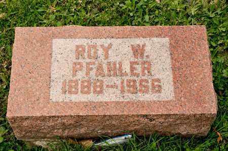 PFAHLER, ROY W - Richland County, Ohio   ROY W PFAHLER - Ohio Gravestone Photos