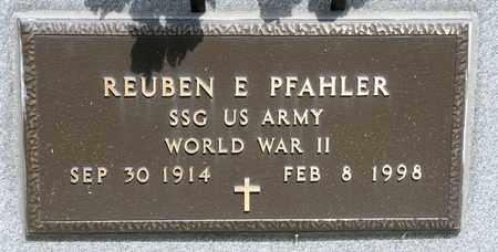 PFAHLER, REUBEN E - Richland County, Ohio   REUBEN E PFAHLER - Ohio Gravestone Photos