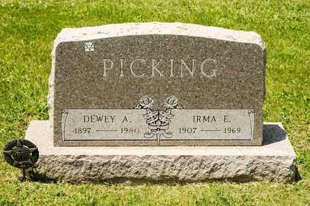 PICKING, IRMA E - Richland County, Ohio | IRMA E PICKING - Ohio Gravestone Photos