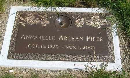 PIFER, ANNABELLE ARLEAN - Richland County, Ohio | ANNABELLE ARLEAN PIFER - Ohio Gravestone Photos