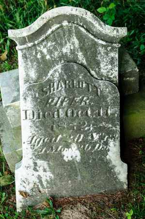 PIFER, SHARLOTT - Richland County, Ohio | SHARLOTT PIFER - Ohio Gravestone Photos