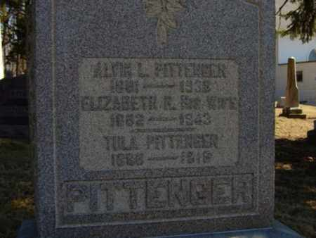 PITTENGER, TULA - Richland County, Ohio | TULA PITTENGER - Ohio Gravestone Photos